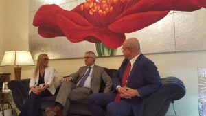 Italian Hospital Delegation meets Ambassador Liborio Stellino in Abu Dhabi - United Arab Emirates - UAE