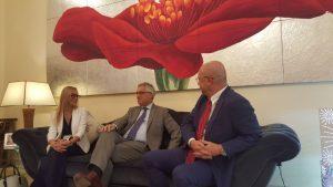 Italian Hospital Delegation meets Ambassador Liborio Stellino in Abu Dhabi - United Arab Emirates - UAE